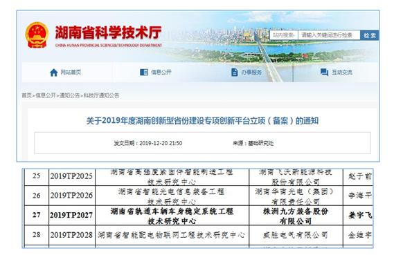 """公司建成湖南省""""车身稳定系统"""" 工程技术研究中心"""