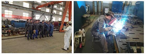 制造中心组织焊工技能比武
